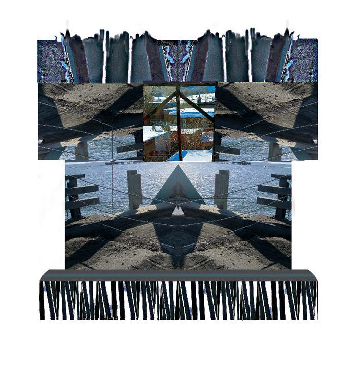 « Deux mondes », 2015, estampe numérique, 15 x 14,2 cm