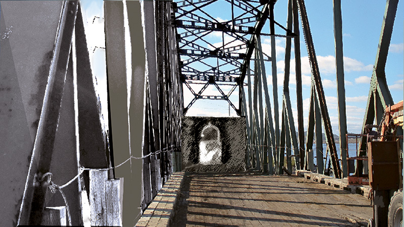 « Parti le pont », 2015, estampe numérique, 14 x 25,5 cm